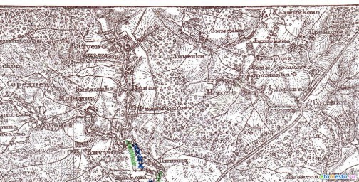 1911 Карта Шуберта юга Московской губ.