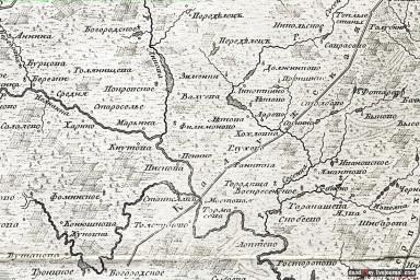 1766 План царствующего града Москвы, фрагм.