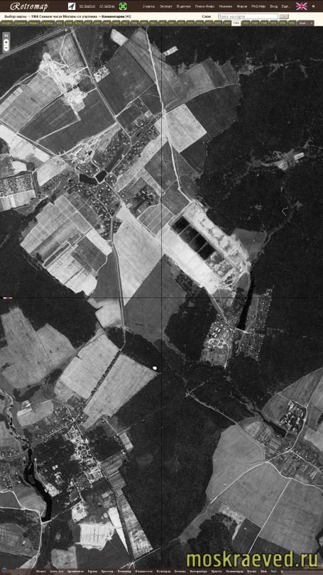 1966Снимок Москвы со спутника, фрагм. Передельцы