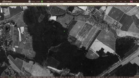 1966 Снимок Москвы со спутника, фрагм. Валуевский лесопарк