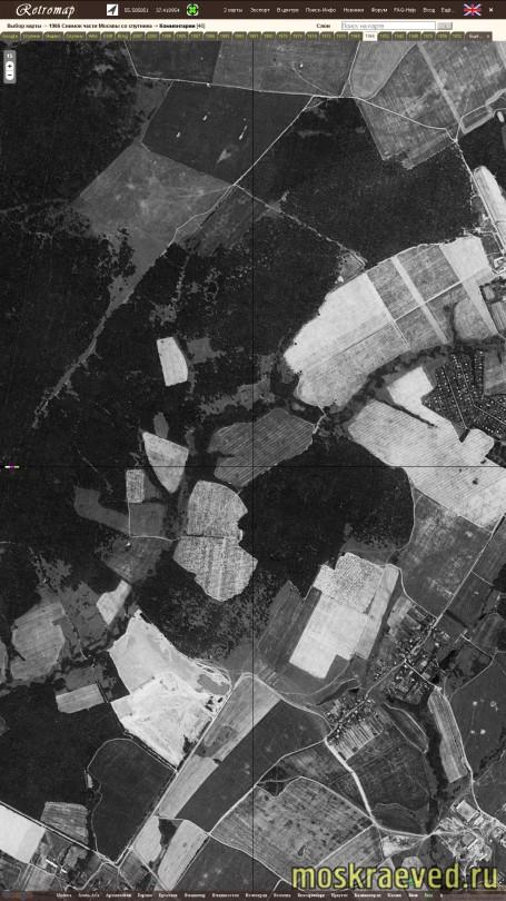 1966 Снимок Москвы со спутника, фрагм. Филатов луг