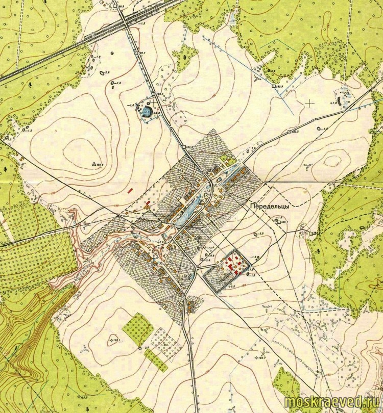 1952 План Москвы, фрагм. Передельцы