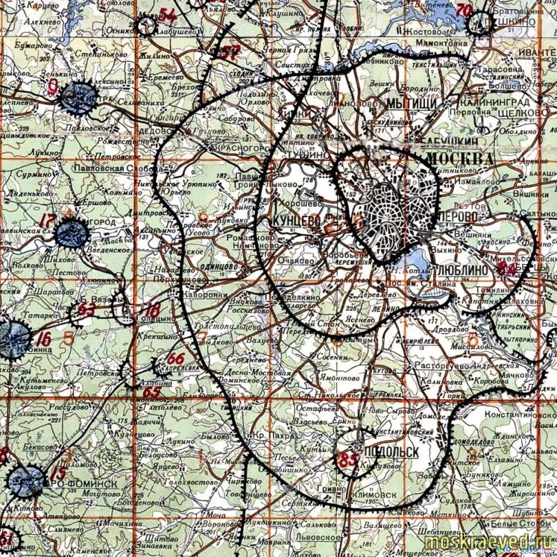 1942 Строительство московской зоны обороны