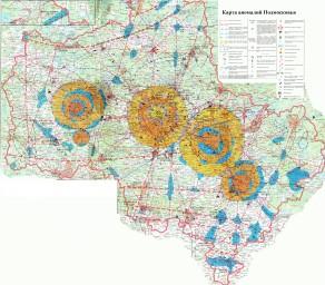 Карта аномалий Подмосковья